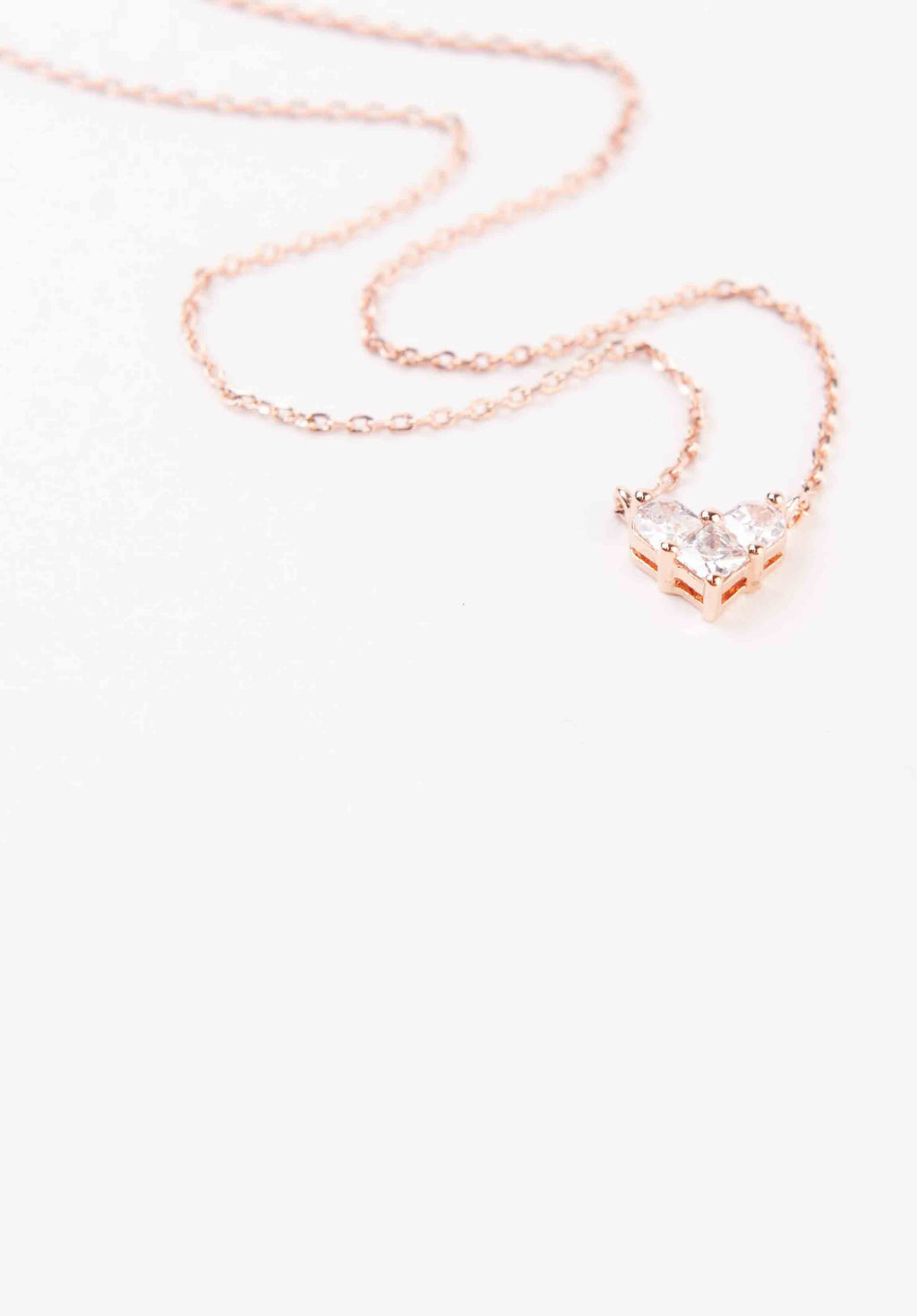 HEART NECKLACE | ROSE GOLD