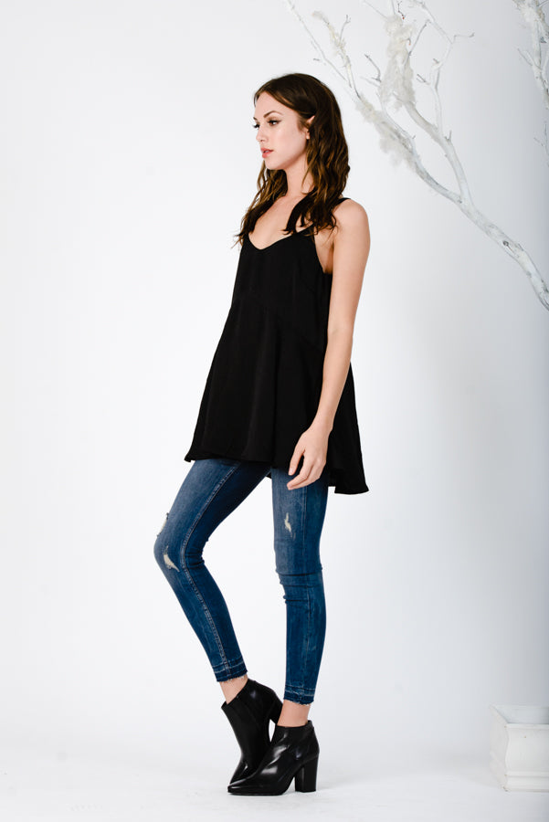 TUNIC CAMISOLE | BLACK