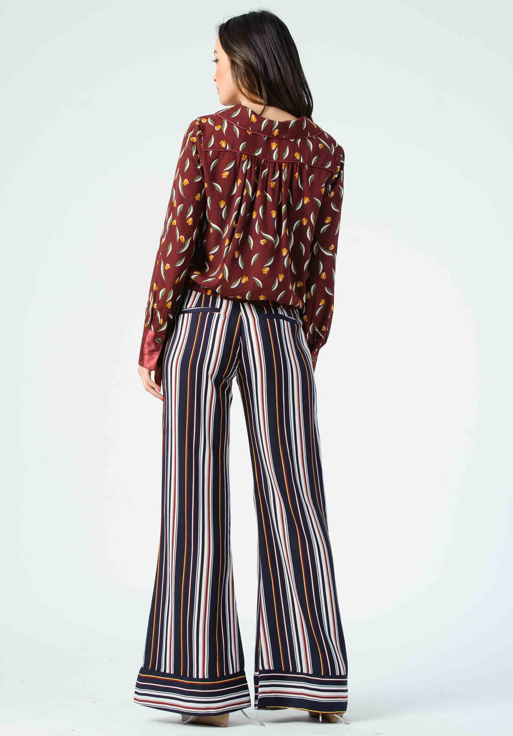 ISLA CONTRAST CUFF PANTS | PRIMARY STRIPE