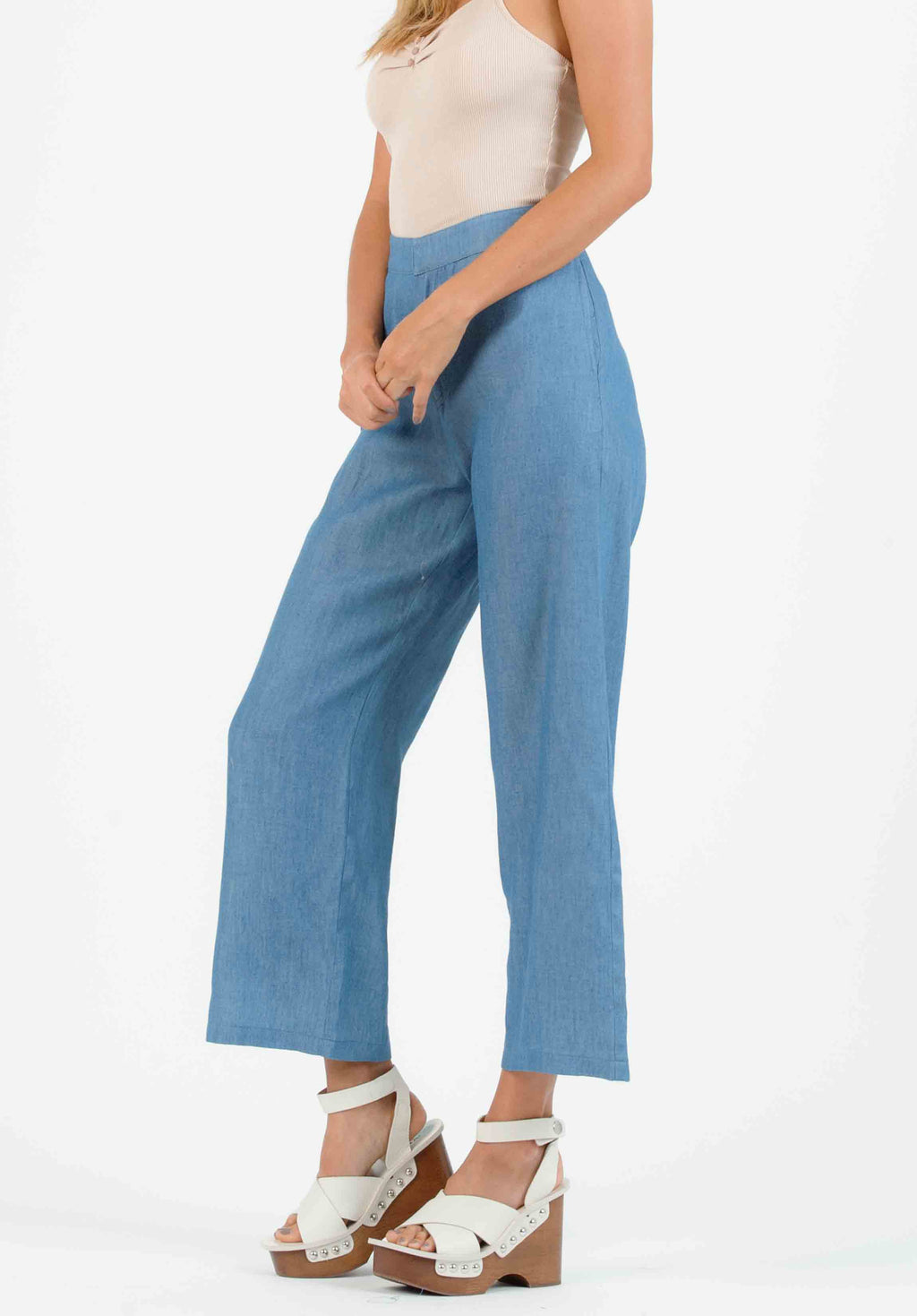PARKER HIGH WAISTED CULOTTES | DENIM