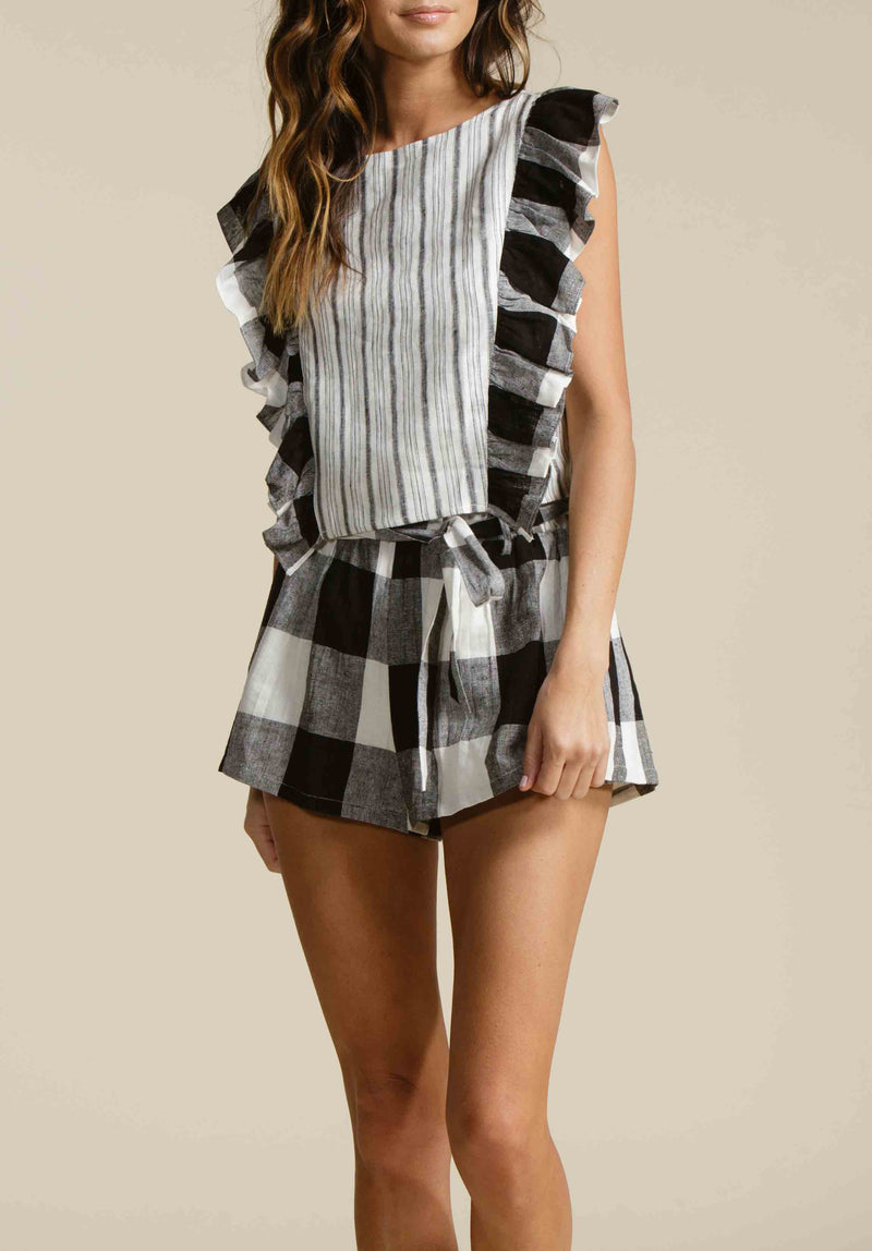 CATALINA PAPER BAG SHORTS | CLIFFSIDE CHECKERS