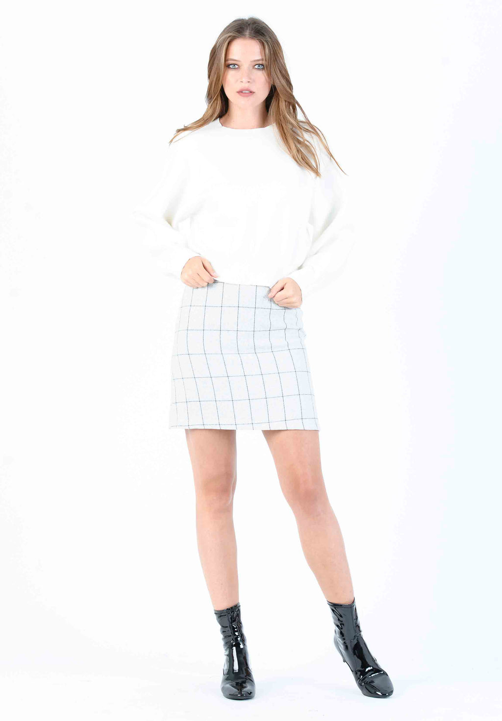 ARTIC A-LINE MINI SKIRT | SNOW PLAID