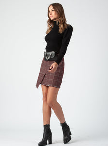 JOANNA MINI SKIRT | AUBURN TWEED