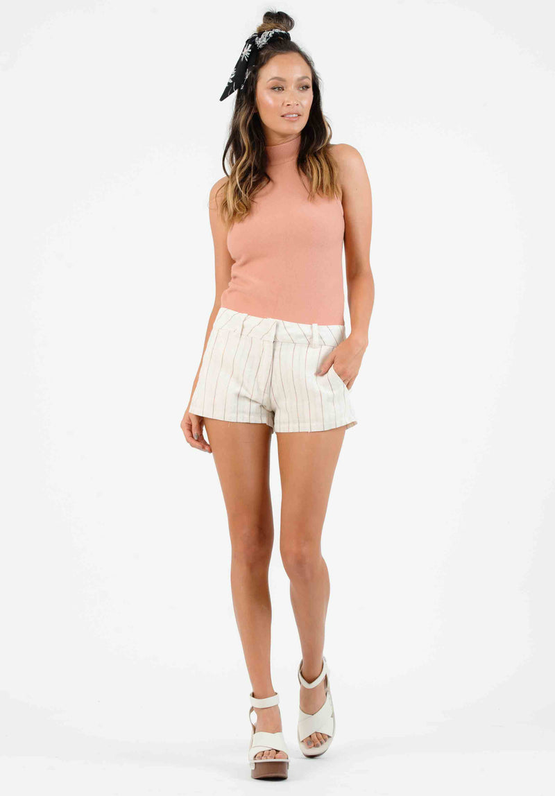 CHLOE RING ZIP UP SKIRT | OFF WHITE