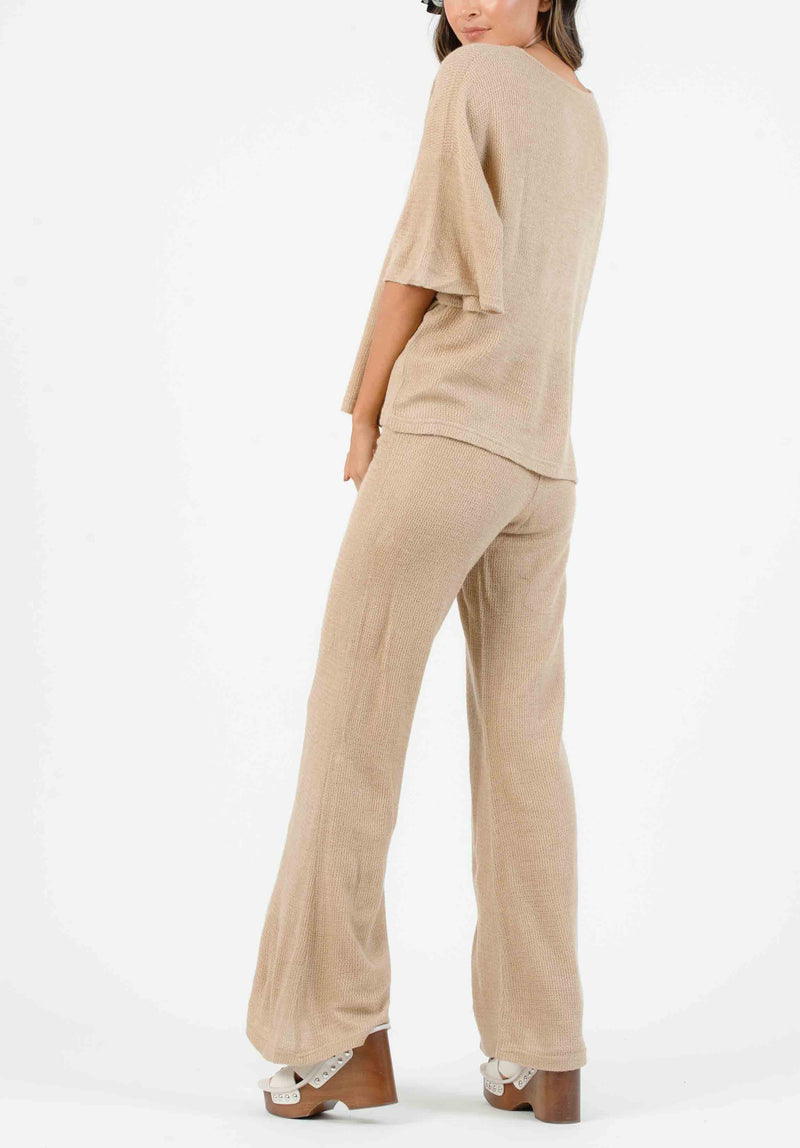 JENNY HIGH WAISTED BELL BOTTOM PANTS | EBONY