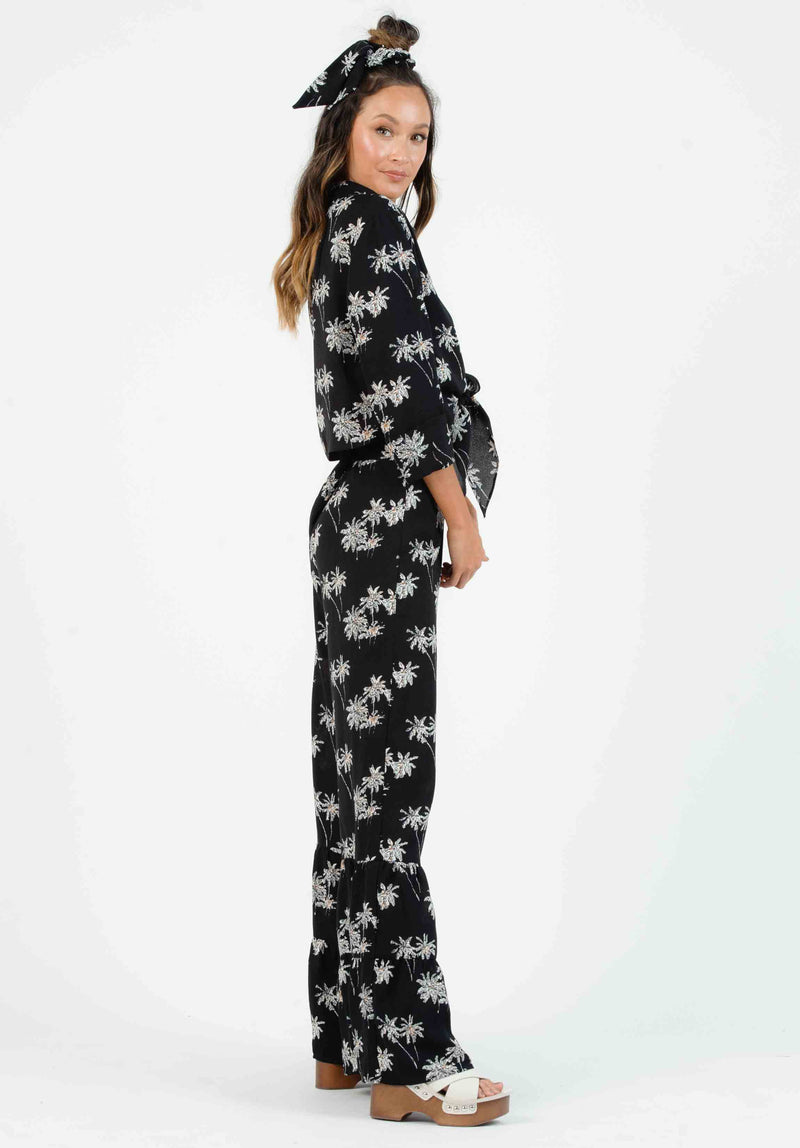 SABEL TIERED PANTS | BLACK PALM