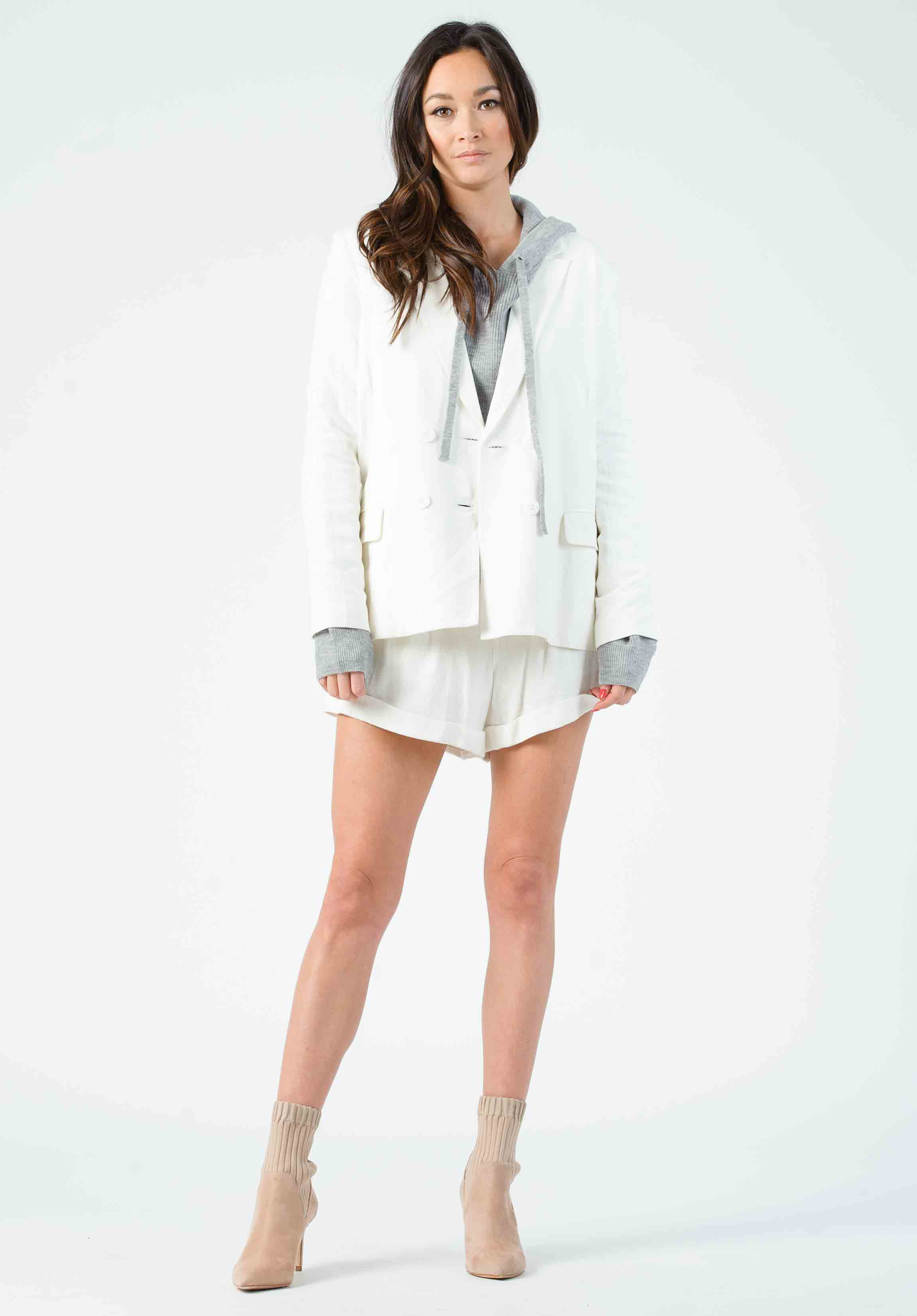 CUVEE CUFFED SHORTS | WHITE LINEN