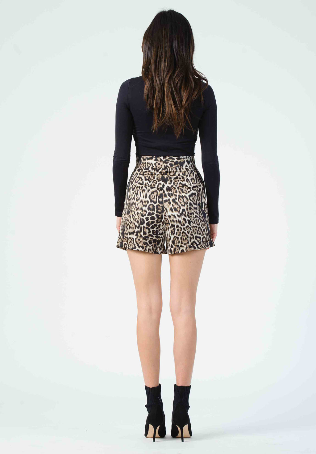 WILLOW HIGH WAISTED SHORTS | CHEETAH