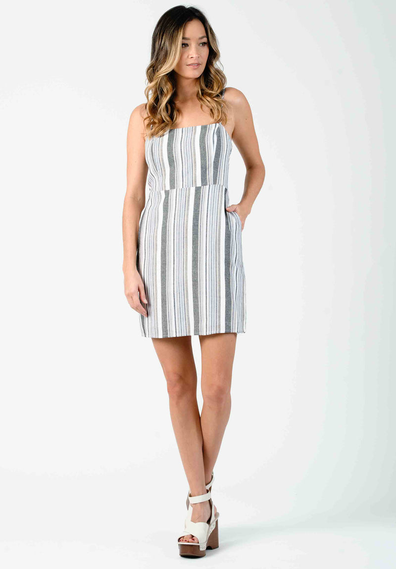 SHORE BABY DOLL DRESS | CREAM STRIPE