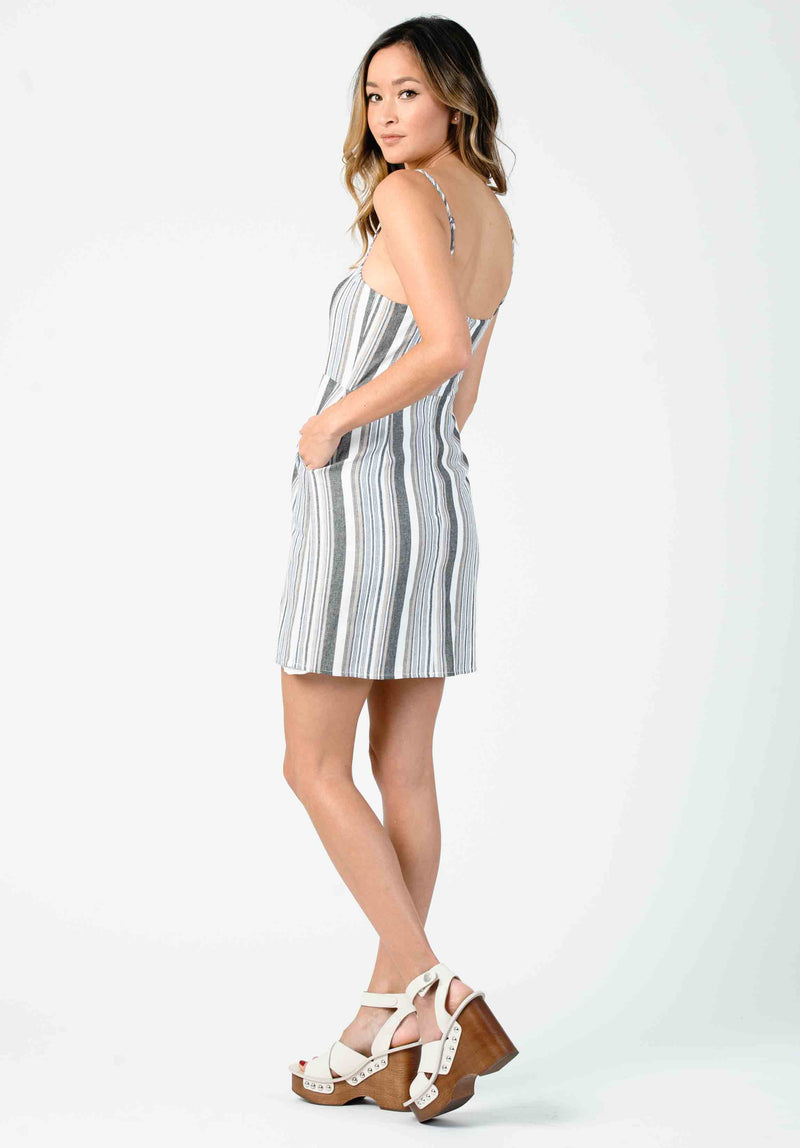 ADDILYN MINI DRESS | NAVY / WHITE STRIPE