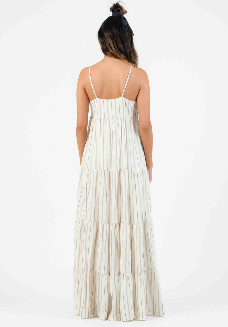 LIBBY TIERED MAXI DRESS | CREAM STRIPE