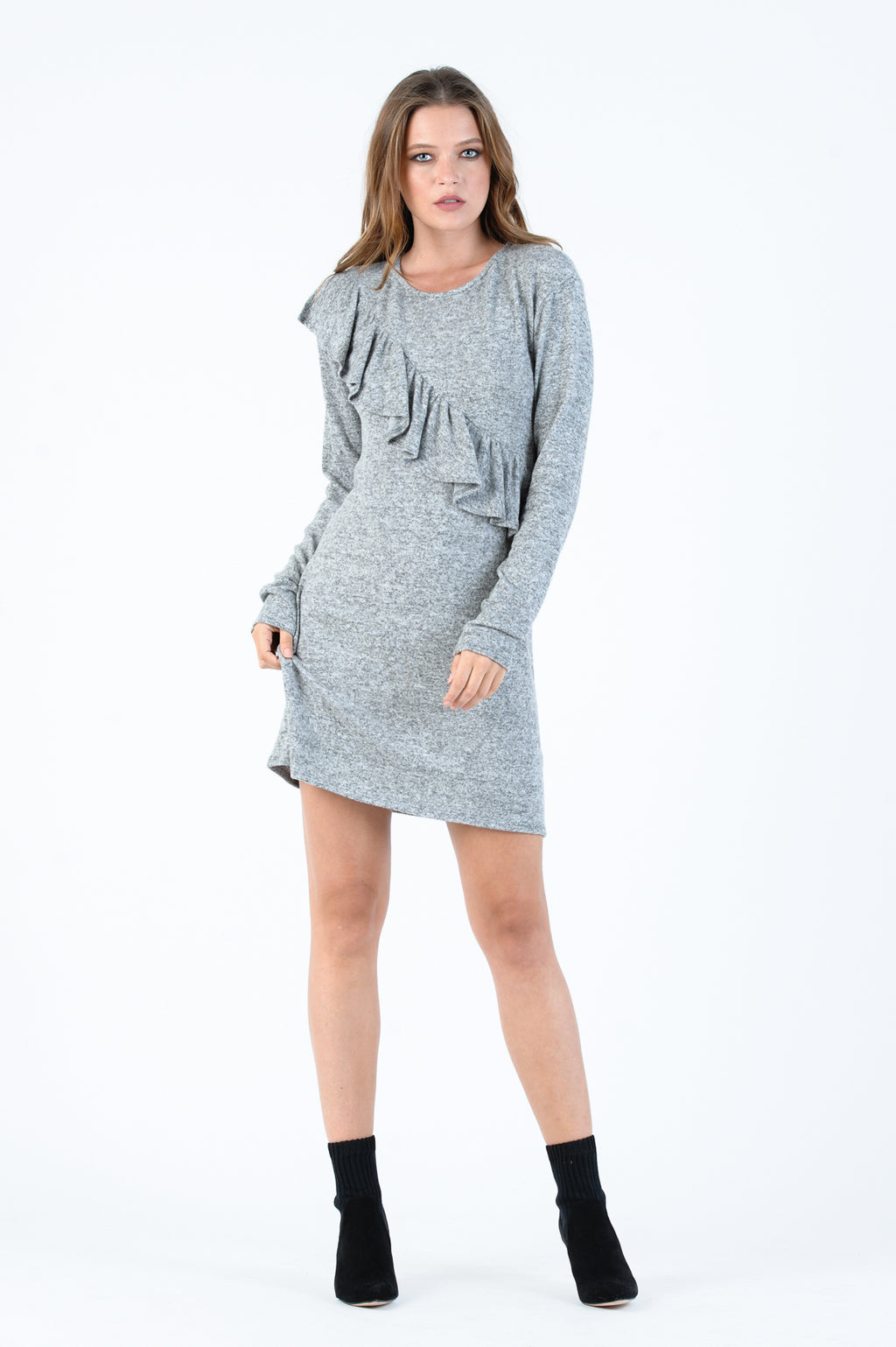 POLAR RUFFLE DRESS | PEPPER