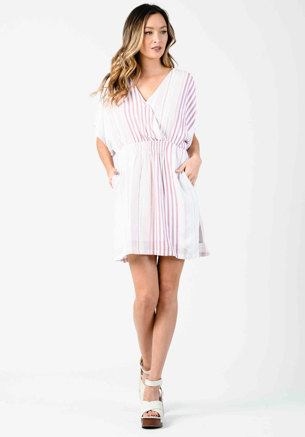 93cd47883b DAISY DOLMAN MINI DRESS | LAVENDER STRIPE