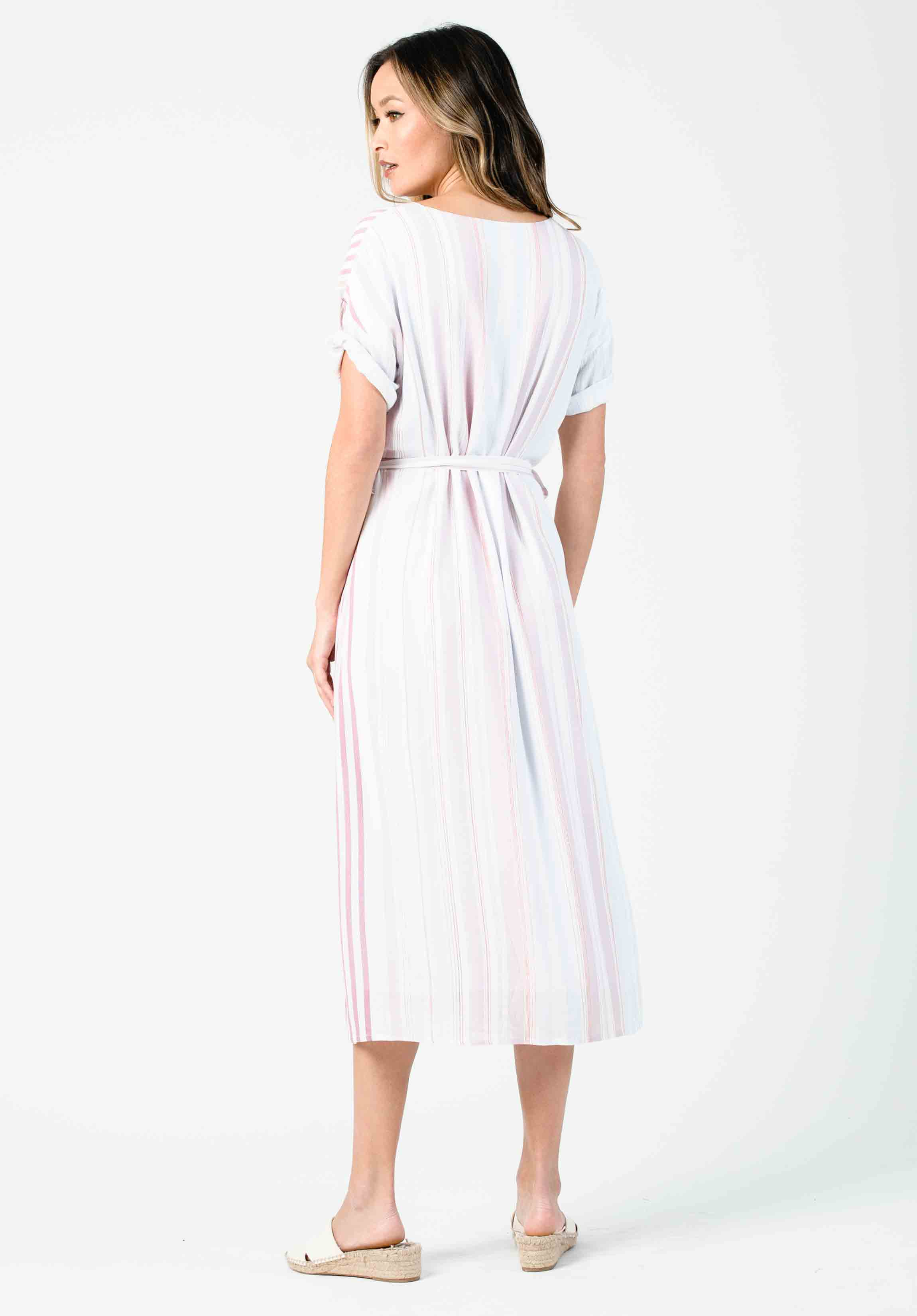 AMARYLLIS SLIP ON DRESS | LAVENDER STRIPE