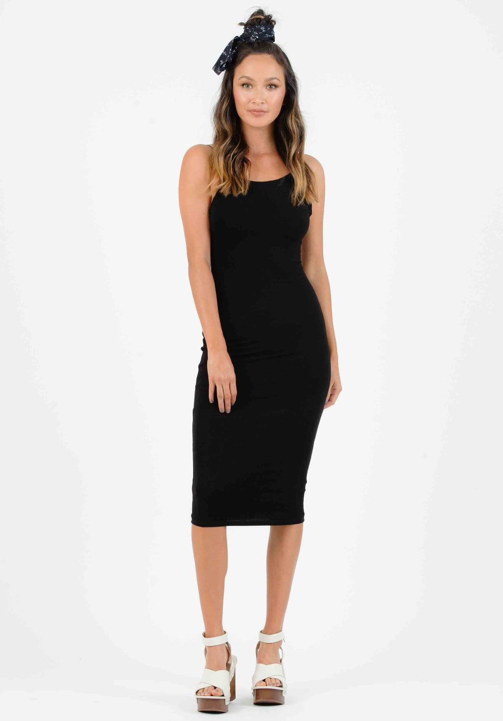 QUINN LOW BACK KNIT DRESS | BLACK