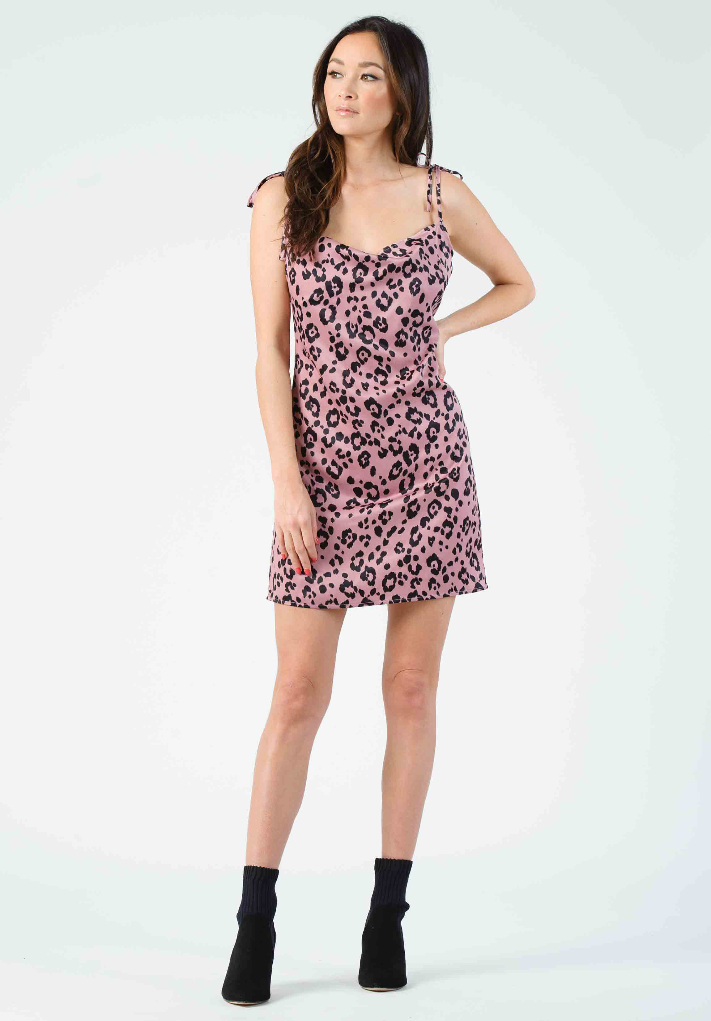 CHANDON MINI DRESS | MAUVE JAGUAR
