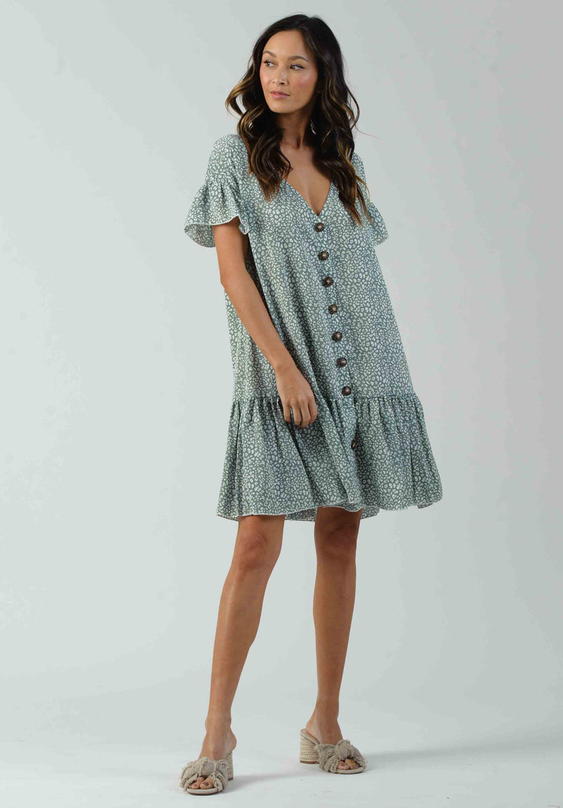 CHAMPAGNE BUTTON DOWN DRESS | LIGHT HONEY