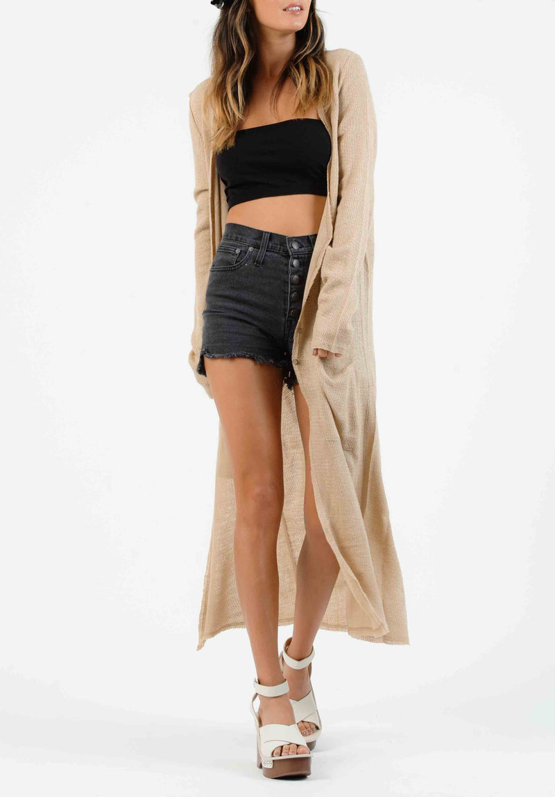 VEGAN SUEDE VEST JACKET| BROWN/TAN