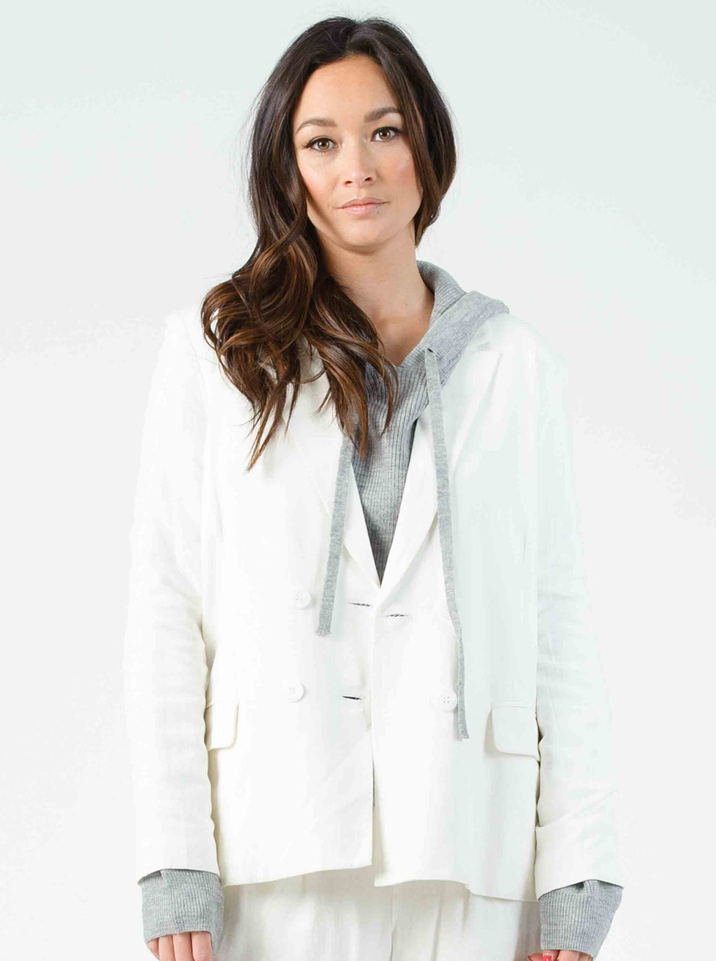 LANSON DOUBLE BREASTED BLAZER | WHITE