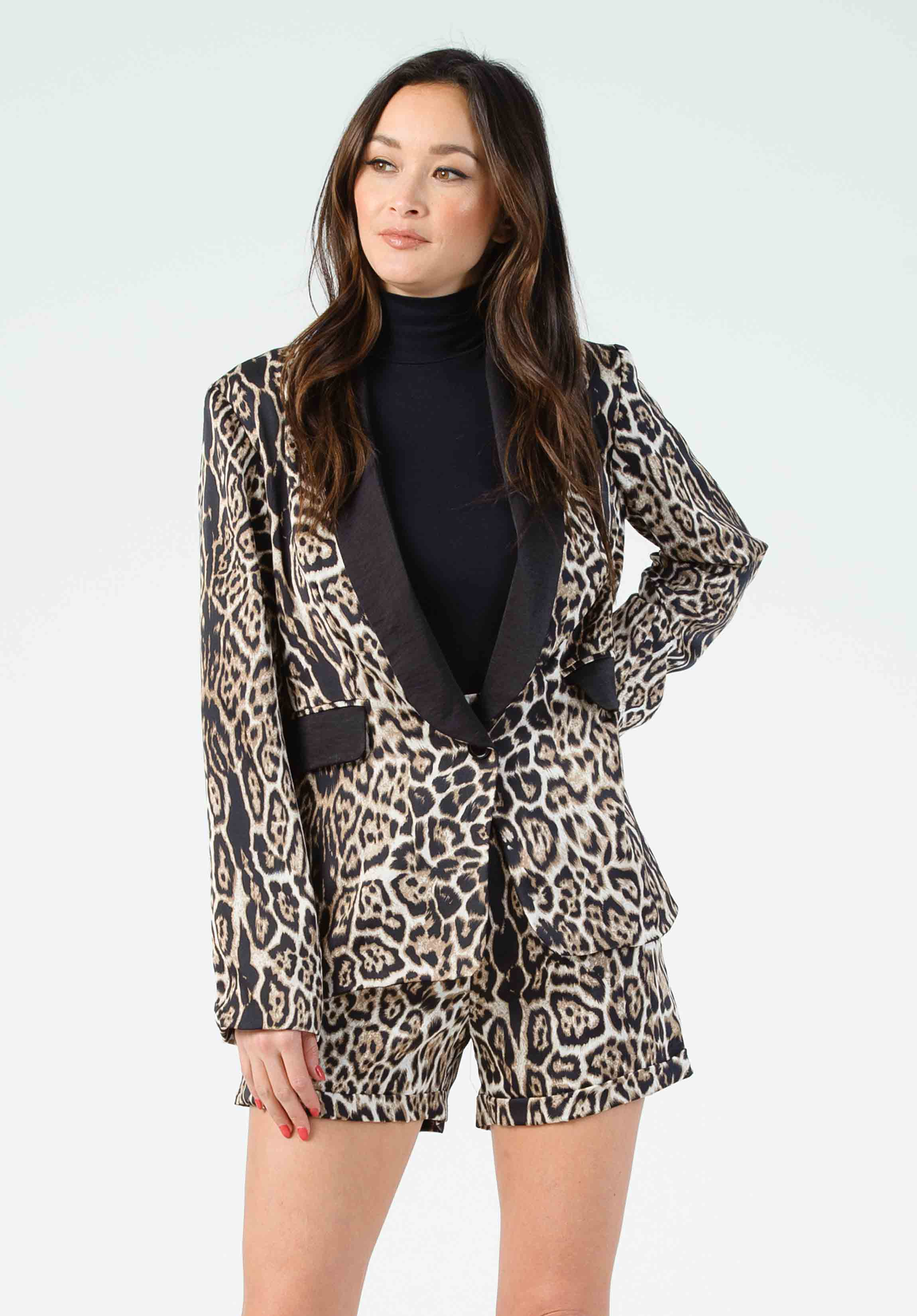 SPARROW NOTCH COLLAR BLAZER | CHEETAH