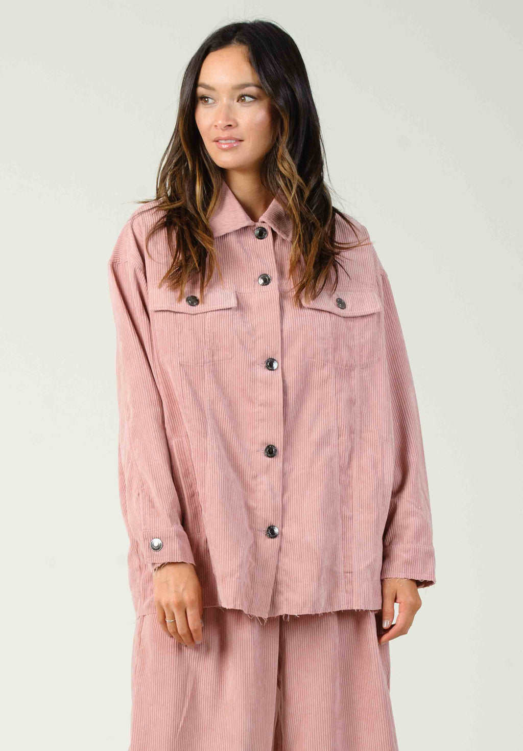 NEBBIOLO CORDUROY JACKET | DUSTY PINK