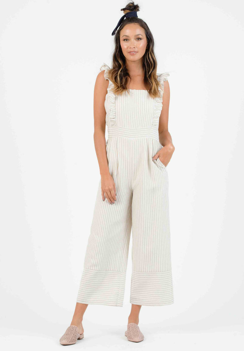 MELISSA FRINGED WIDE LEG PANTS | NAVY
