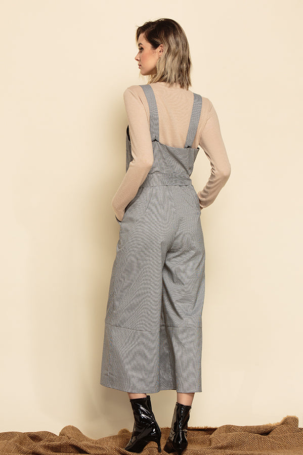 NAPLES CAMI JUMPSUIT | HOUNDSTOOTH