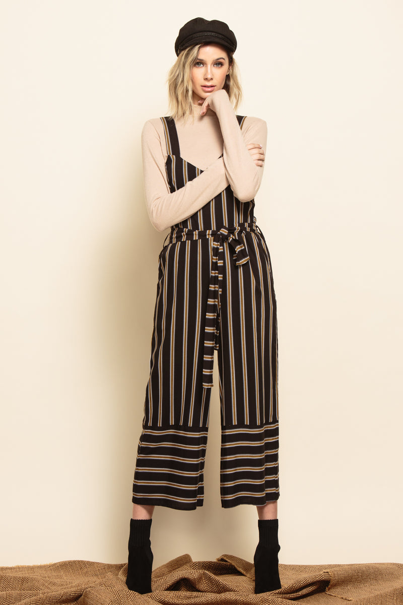 NAPLES CAMI JUMPSUIT | BLACK STRIPE