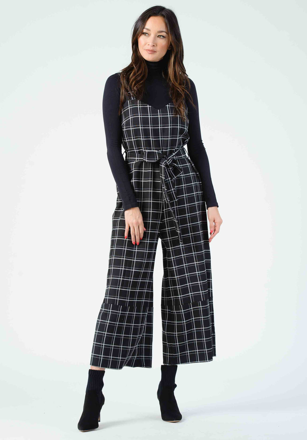 NAPLES CAMI JUMPSUIT | BLACK PLAID