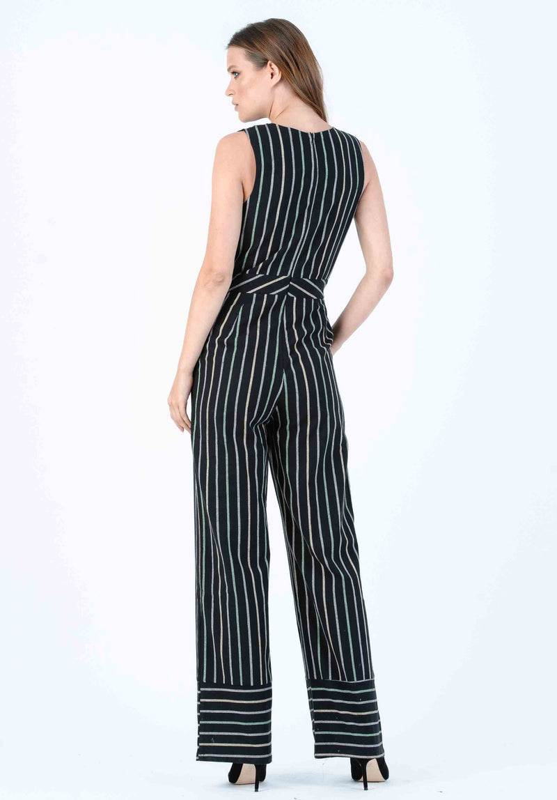 FERN JUMPSUIT | BLACK STRIPE