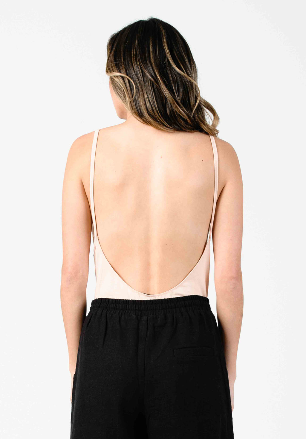IANNA LOW BACK BODYSUIT | BLUSH