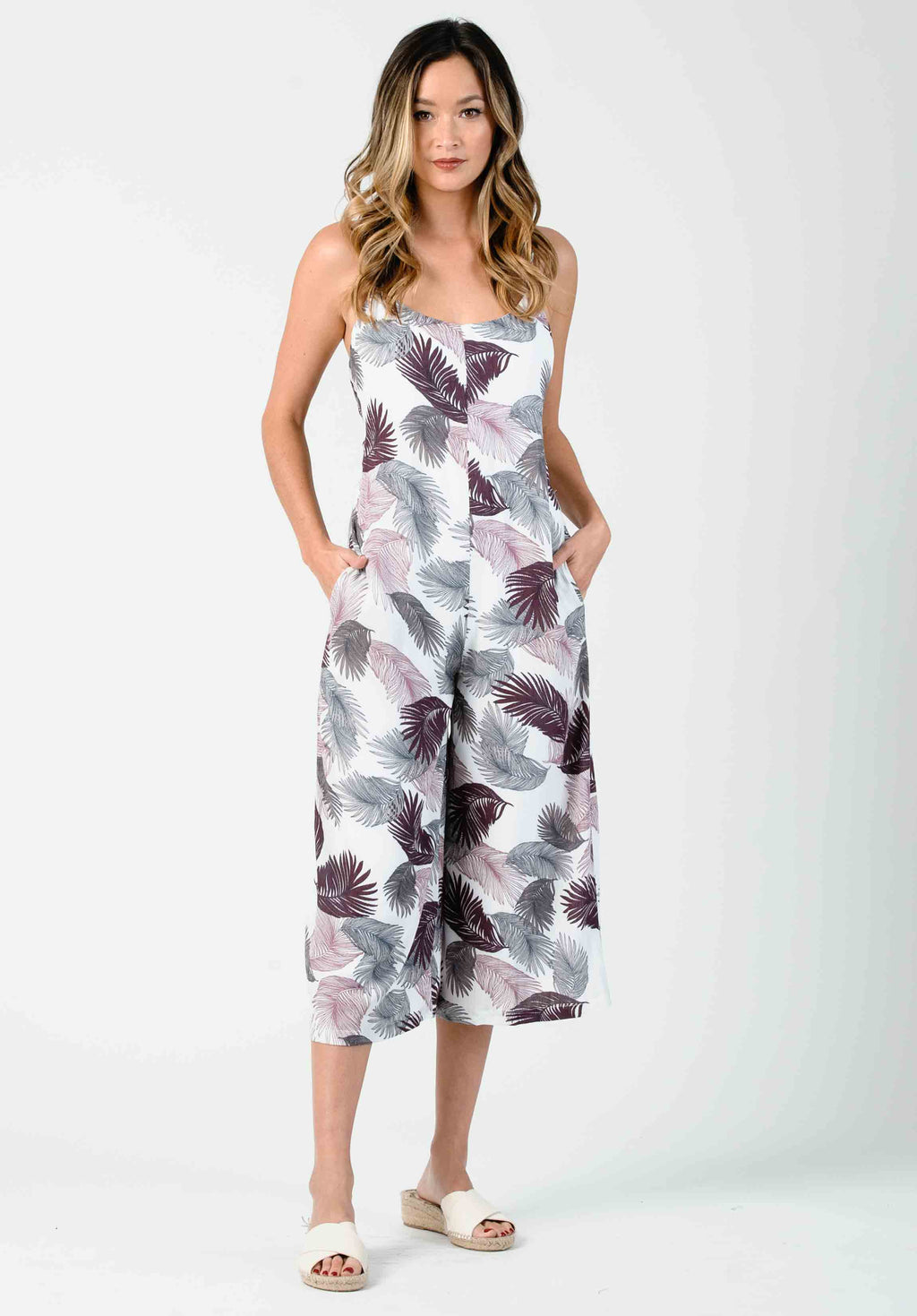 ORCHID TIE BACK JUMPSUIT | LILAC PALM