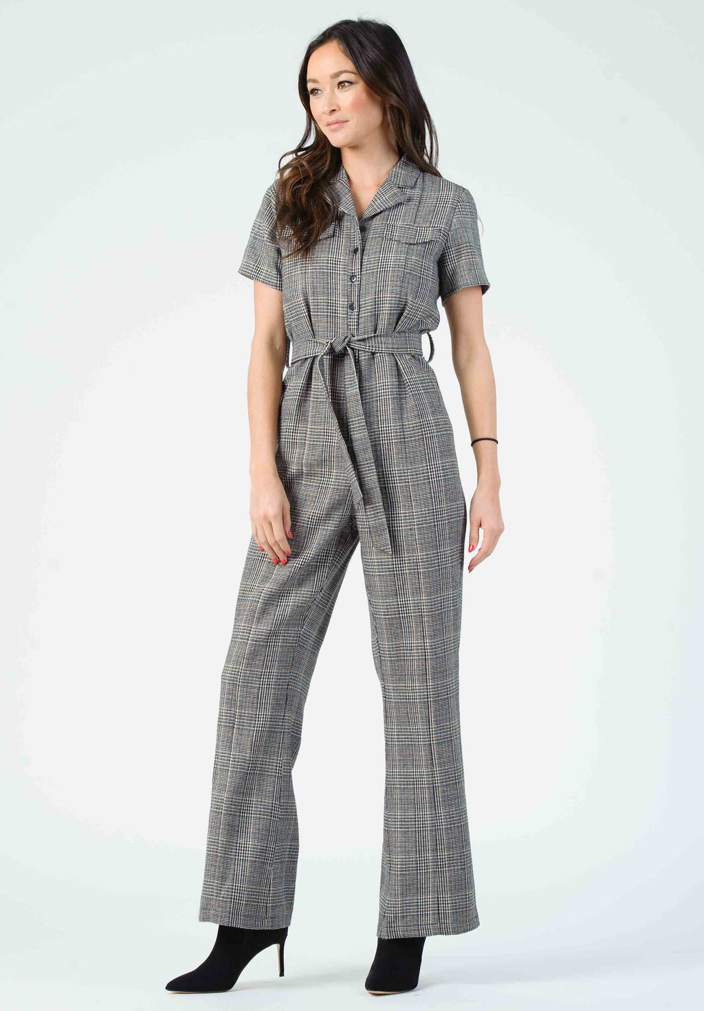 VERDI TAILORED JUMPSUIT | BLACK PLAID
