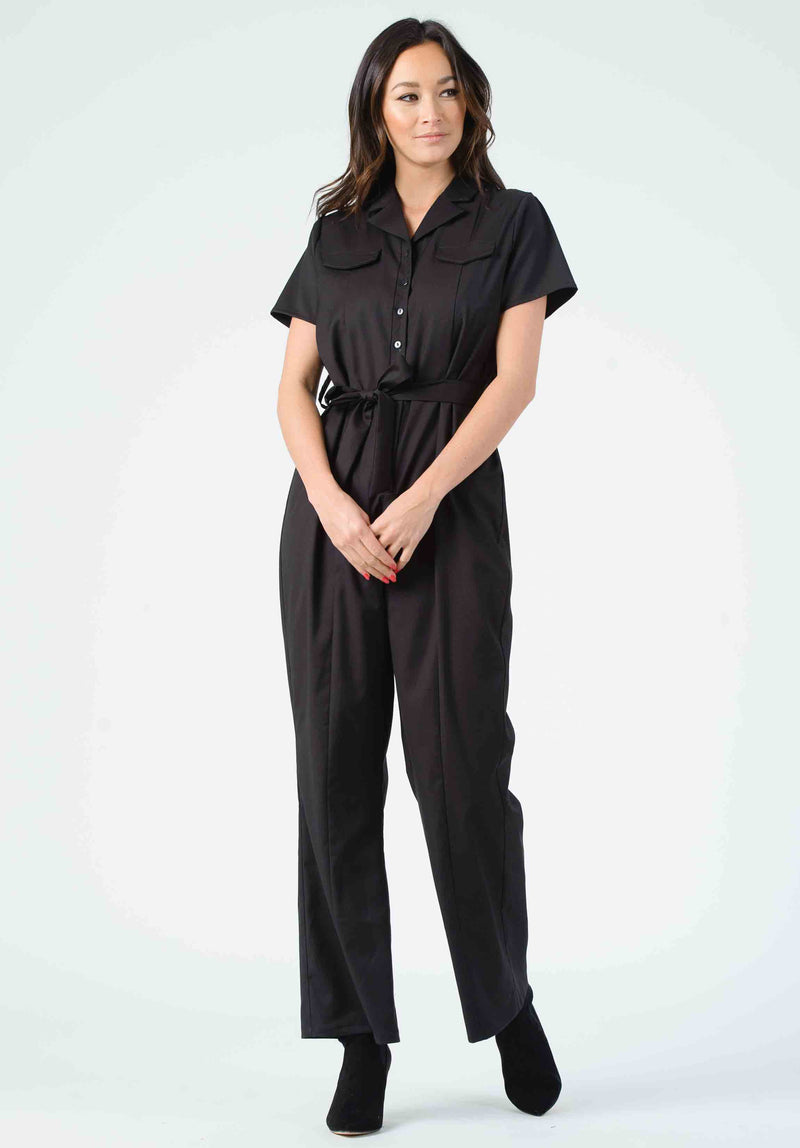 IPSUM SIDE BUTTON JUMPSUIT | BLUSH