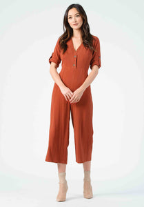 JANALEE CULOTTE JUMPSUIT | ANTIQUE COPPER