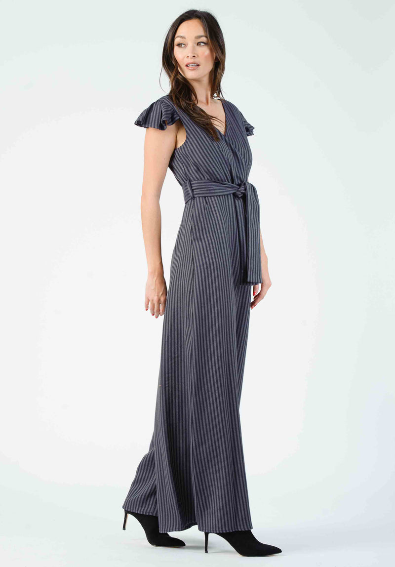 FERN JUMPSUIT | GARNET STRIPE