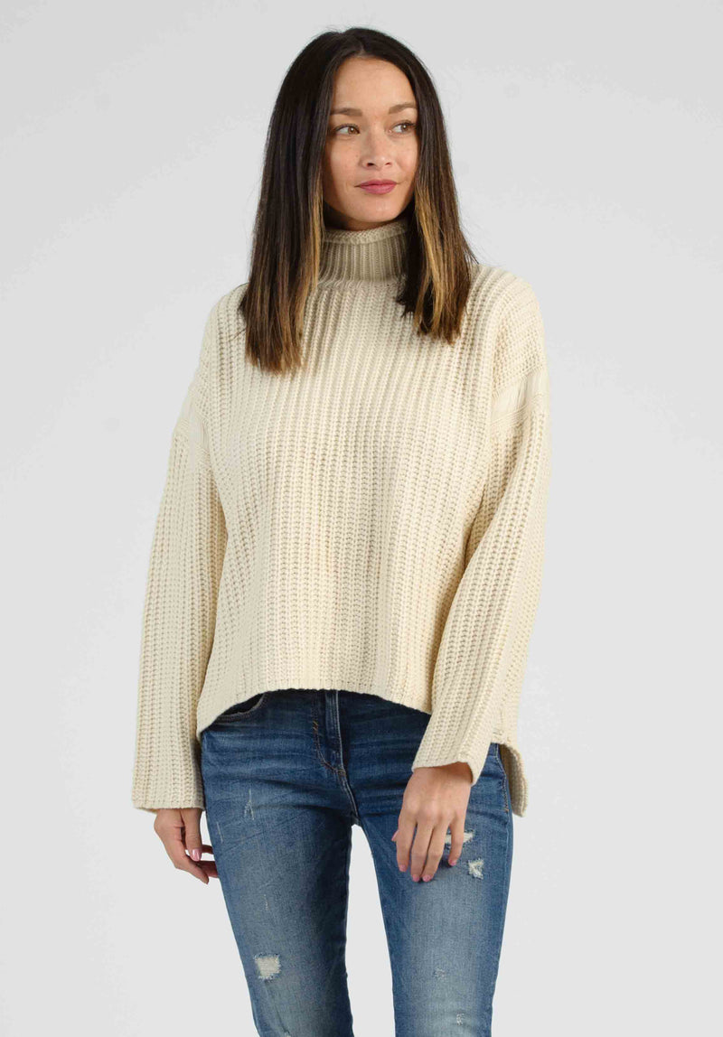RYAN TURTLENECK SWEATER DRESS | GREEN/MUSTARD/WHITE