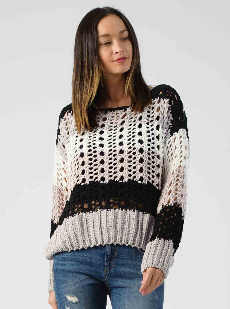 COLORBLOCK SWEATER | BLACK/GRAY