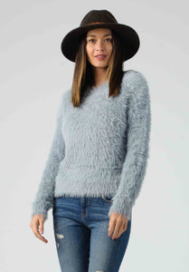 FIORA FUZZY SWEATER | GRAY