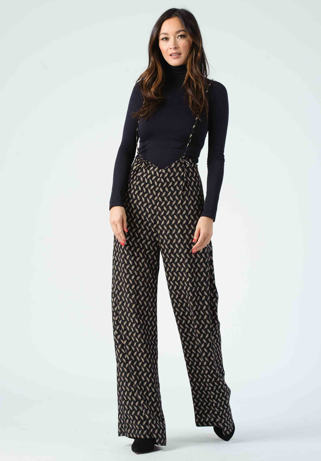 JORDAN JUMPSUIT | BLACK LEAF