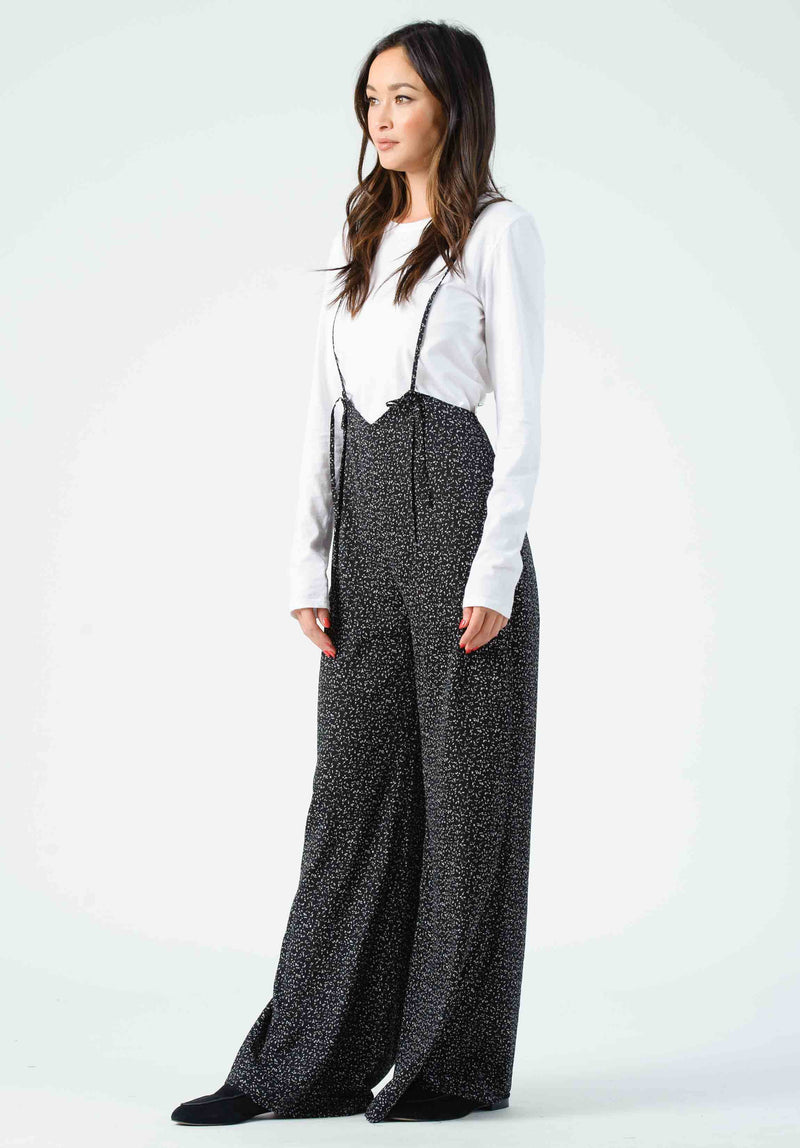 JORDAN JUMPSUIT | BLACK/WHITE SPECKLE