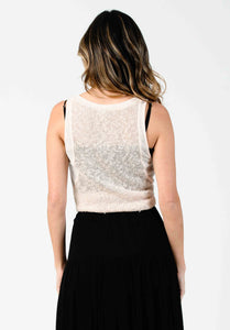 FREESIA KNIT TANK | CREAM