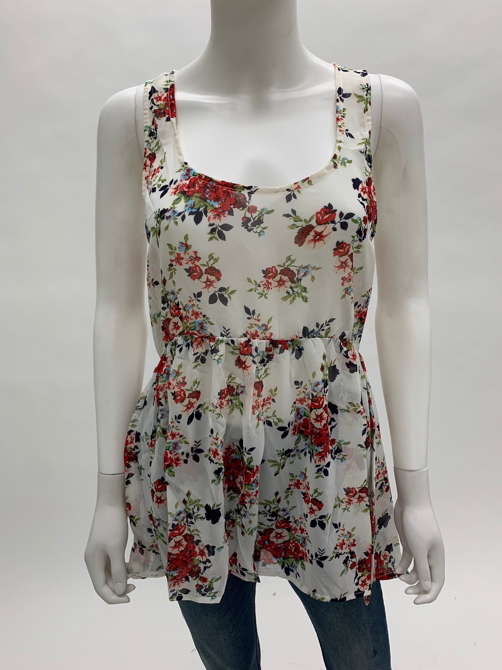 CROSSBACK TANK TOP | IVORY ROSE