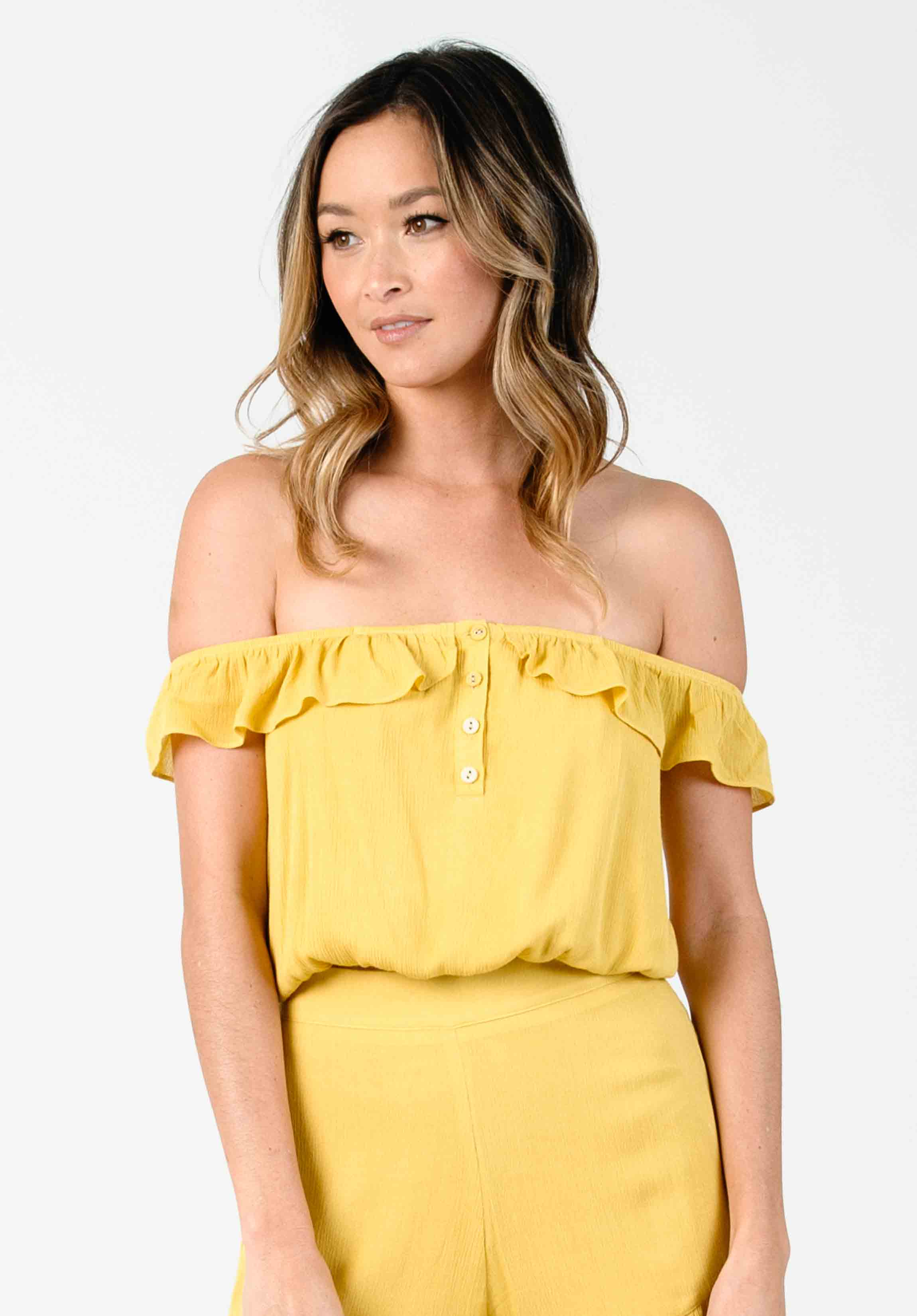JULIET OFF-SHOULDER CROPPED BLOUSE | SUN