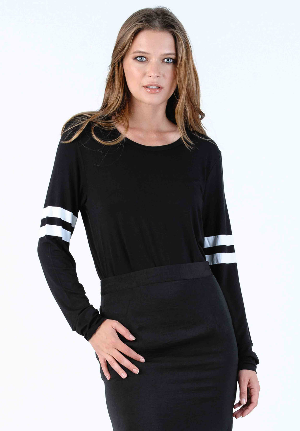 FALCON JERSEY TOP | BLACK
