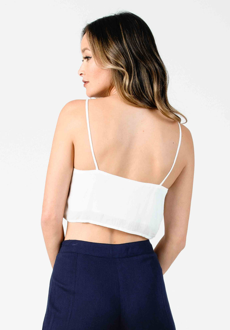 ACACIA CAMI CROP | WHITE