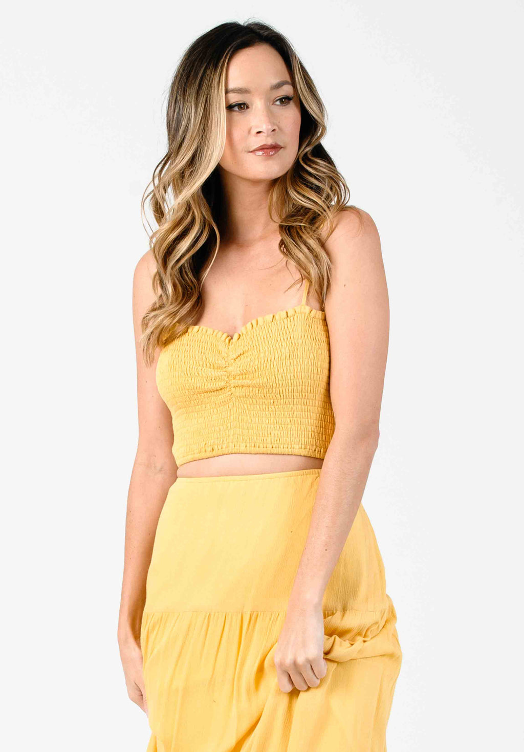 HONEY SMOCKED SYNCHED FRONT TOP | SUN