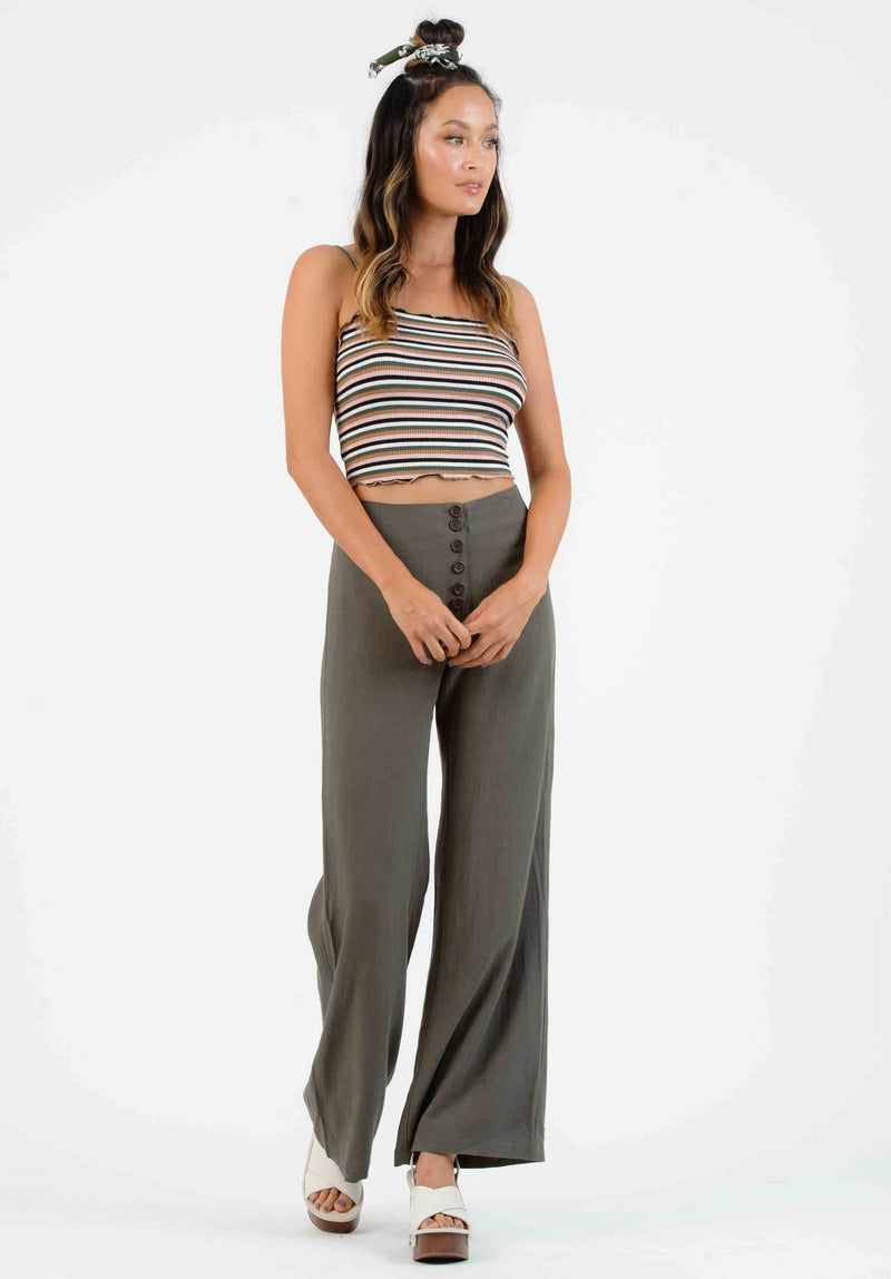 ELETTRA MERROW EDGE KNIT CROP TOP | STRIPE