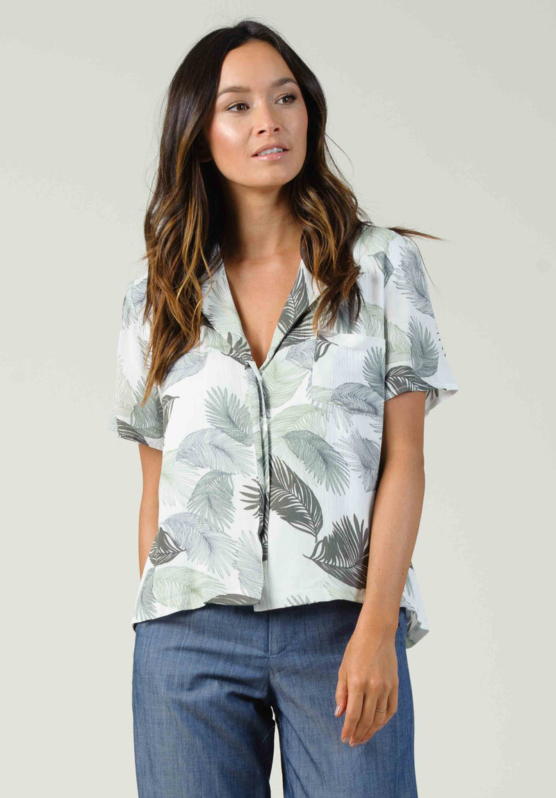 AVERIE CAMI WRAP TOP | SHORELINE NAVY