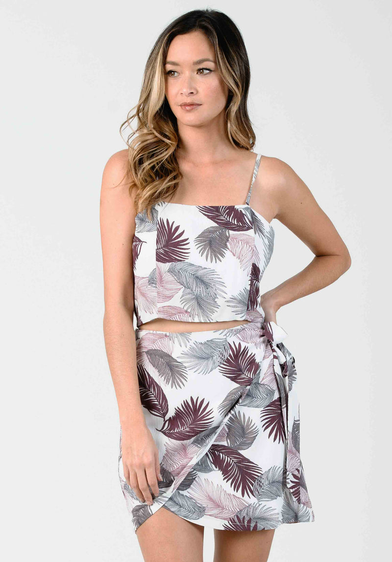 PETAL STRUCTURED CAMI CROP | LILAC PALM